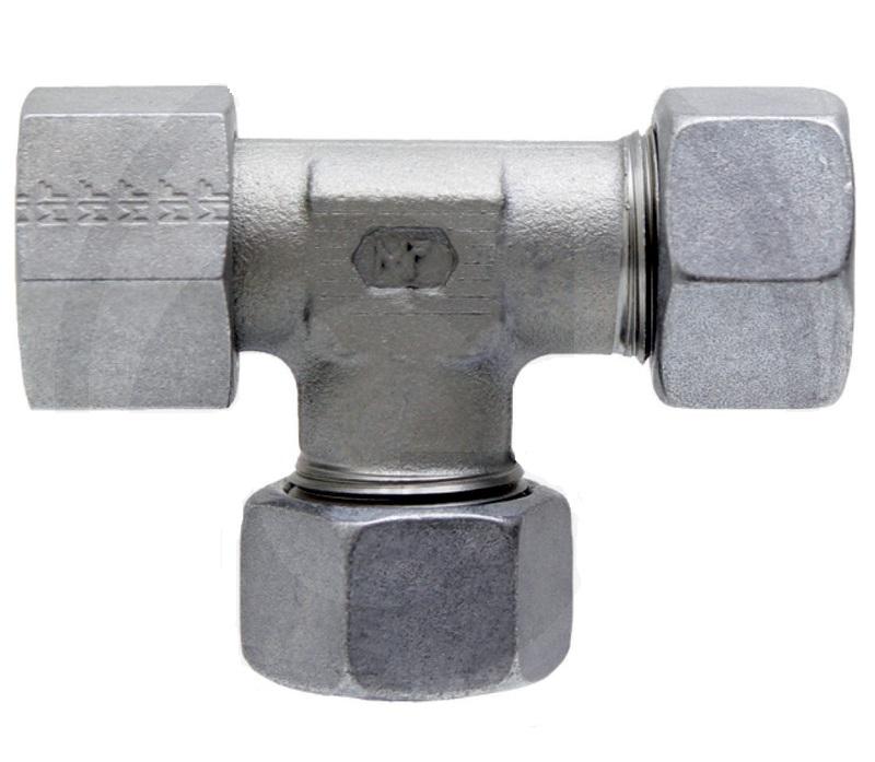 Hydraulické T-šroubení nastavitelné STAUFF ELV s přesuvnou maticí DKO