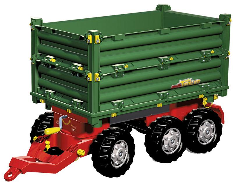 Rolly Toys - třístranný sklápěč za šlapací traktory a nakladače zelený