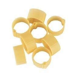 Zámkové kroužky na slepice a kachny 16 mm žlutý 20 ks
