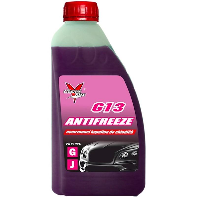 CleanFox nemrznoucí kapalina do chladičů G13 fialová, 1 l neředěná antifreeze