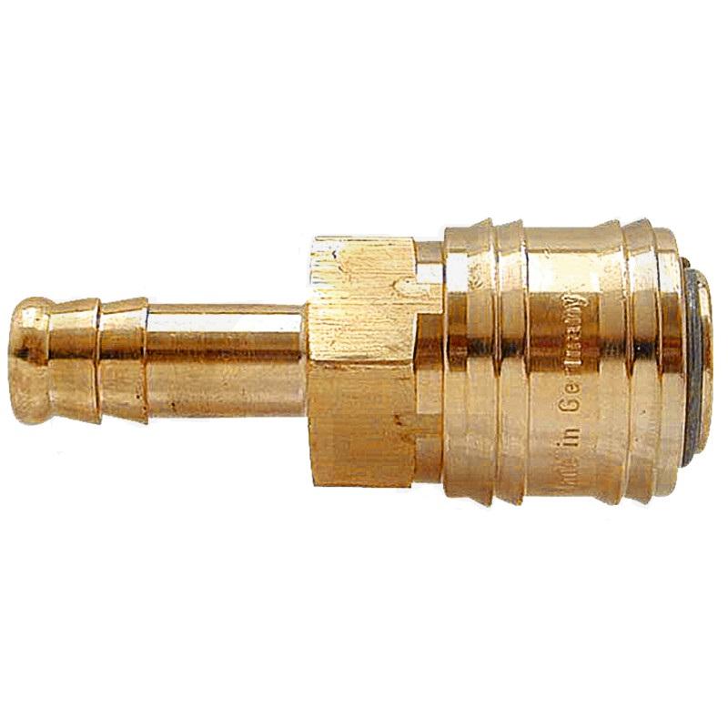 """Mosazná rychlospojka 8 mm - 5/16"""" s hadicovým přípojem pro pneumatické nářadí"""