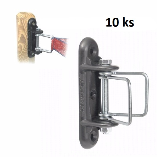 Rohový napínací izolátor VN pro pásku IRUANGLE pro elektrický ohradník 10 ks