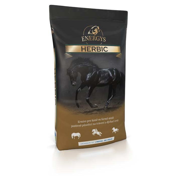 ENERGYS® Premium Herbic müsli působící příznivě na dýchací cesty koně 20 kg