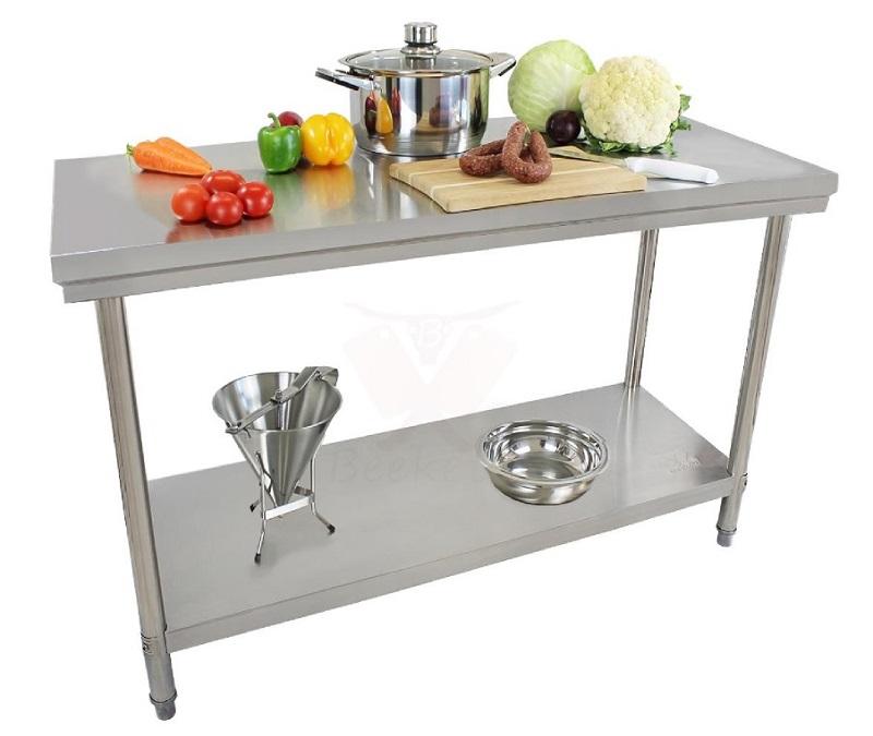 Nerezový pracovní stůl Beeketal BA150 gastro 1500 x 600 x 840 mm do kuchyně