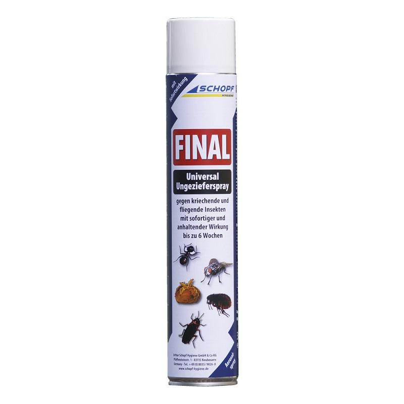 Final Universal 750 ml biocid sprej na hubení čmelíků, lezoucího, létajícího hmyzu, molů