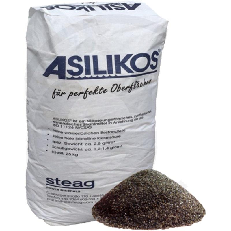 Písek na pískování a otryskávání ASILIKOS® pytel 25 kg zrnitost 0,5 - 1,4 mm