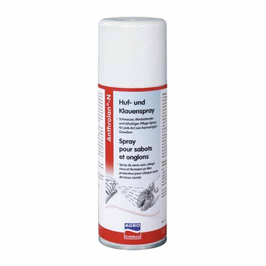 Anthrolan-N 200 ml černý ochranný sprej na paznehty, kopyta a rohovinu