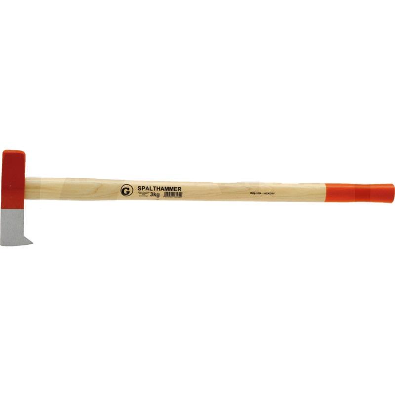 Dřevorubecký kalač – štípací kladivo s hmotností hlavy 3000 g topůrko bílý ořech 900 mm
