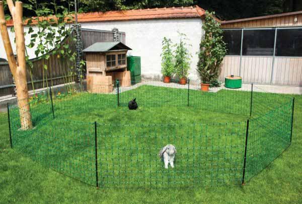 Vodivá síť pro králíky a drobné zvířectvo 65 cm/12 m pro elektrický ohradník