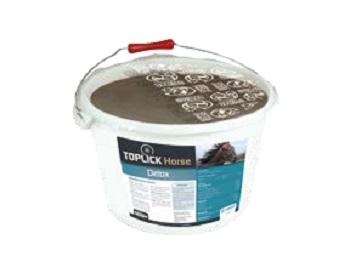 Minerální liz TOPLICK Horse Detox pro koně 15 kg na játra, trávení, kůži s česnekem