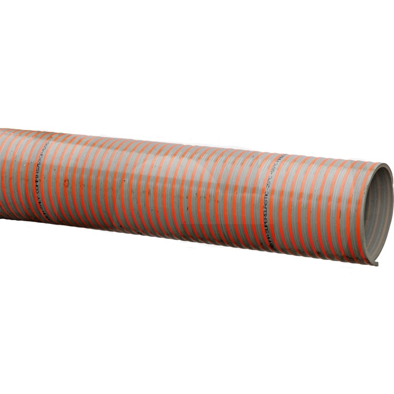 PVC spirálová a tlaková hadice pro fekální vozy vnitřní průměr 200 mm (8″) délka 3 m