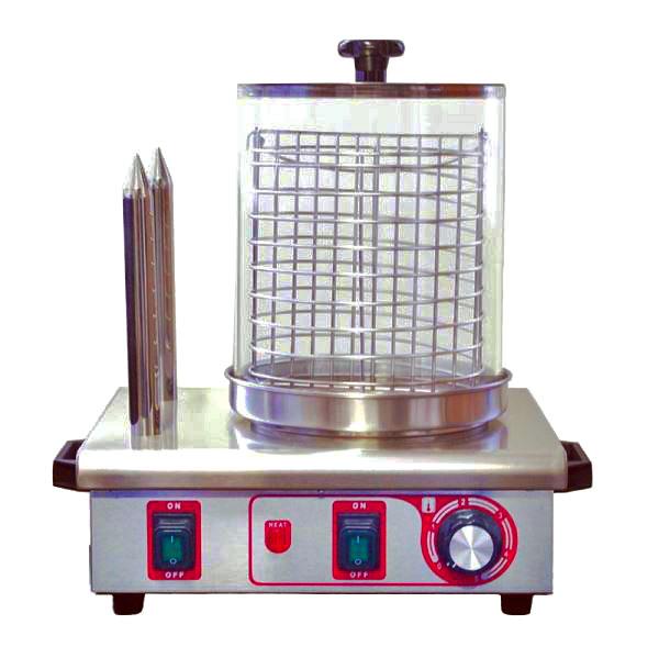 Párkovač hot dog, ohřívač párků v rohlíku, ohřívač hot-dogů dvoutrnový M+S HDW2