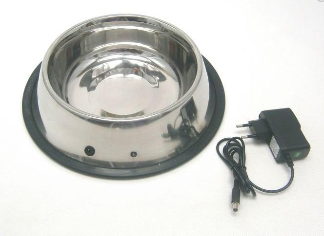 Nerezová vyhřívaná miska na vodu a na krmivo pro psy 2800 ml TF91 12V / 230V / 22W