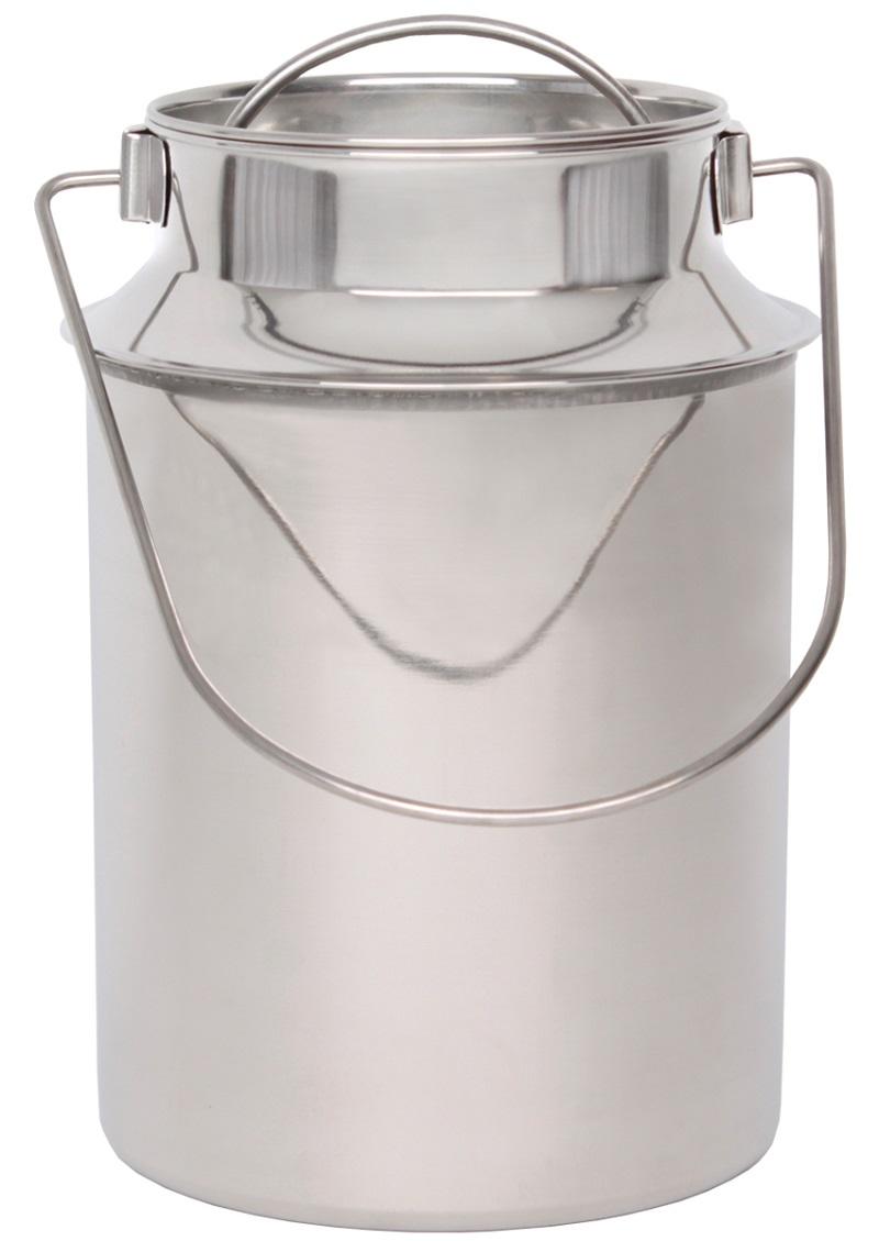 Nerezová konvička, bandaska na mléko  BEEKETAL BMK-6 na 3,5 l včetně víka