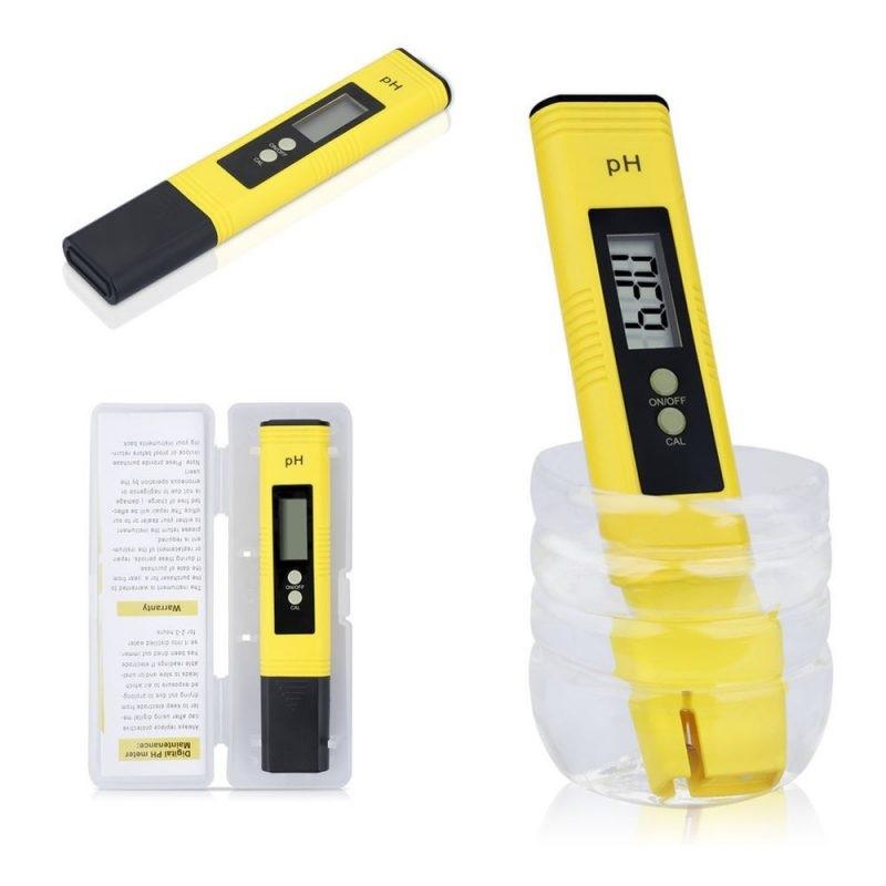 Digitální pH metr přenosný pH tester s LCD displejem a vysokou přesností