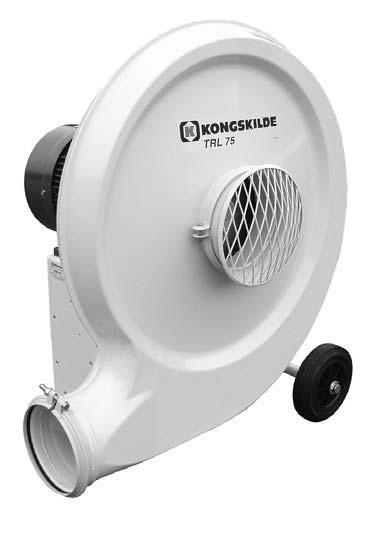 Kongskilde tlačný pneumatický dopravník obilí TRL 100 ventilátor, 7,5 kW