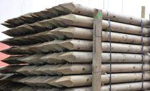 Dřevěný kůl kulatý borový 200 cm průměr 8 cm na ohradu
