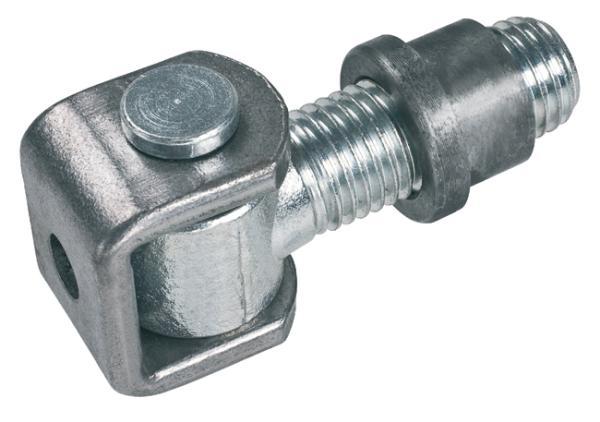 Regulovatelný šroubový pant vratový na křídlové brány PANT 425-20 ocelové panty na branku