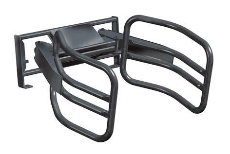 Kleště na balíky na čelní nakladač Unigrip Quicke 130 EURO úchyt, sada hadic