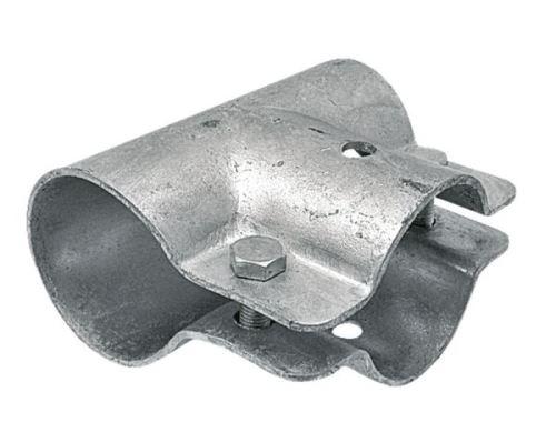 Stájová trubková T spona jednodílná se 2 šrouby průměr A 74 mm B 76 mm