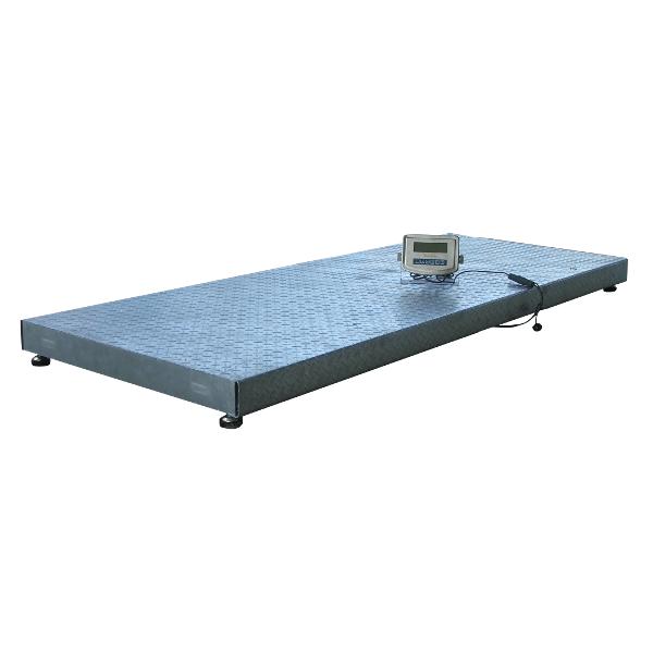 Plošinová váha Agreto 1 x 2,5 m na 2000 kg s indikátorem HD1 můstková, veterinární