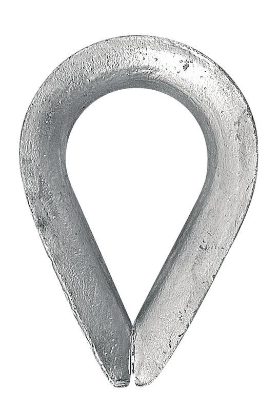 Očnice zinkovaná pro ocelová lana 8 mm