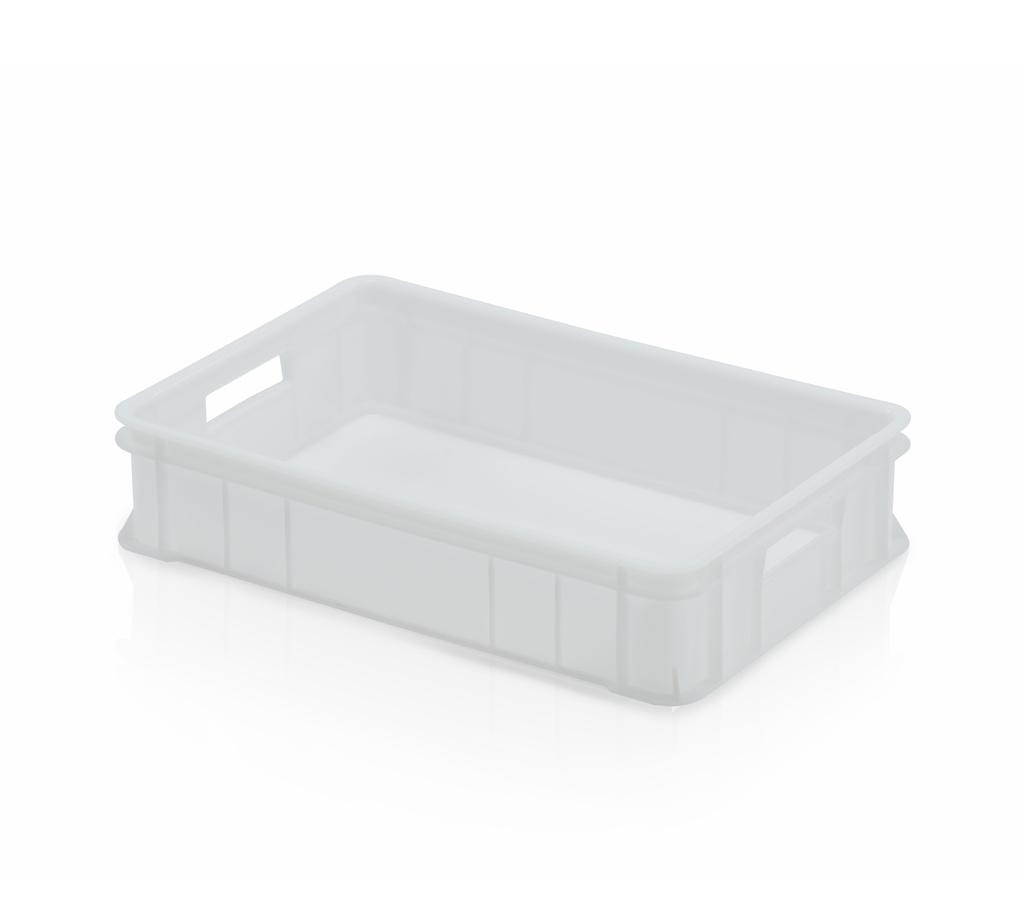 Hygienická plastová cukrářská přepravka na lahůdky a cukrovinky střední, nosnost 10 kg