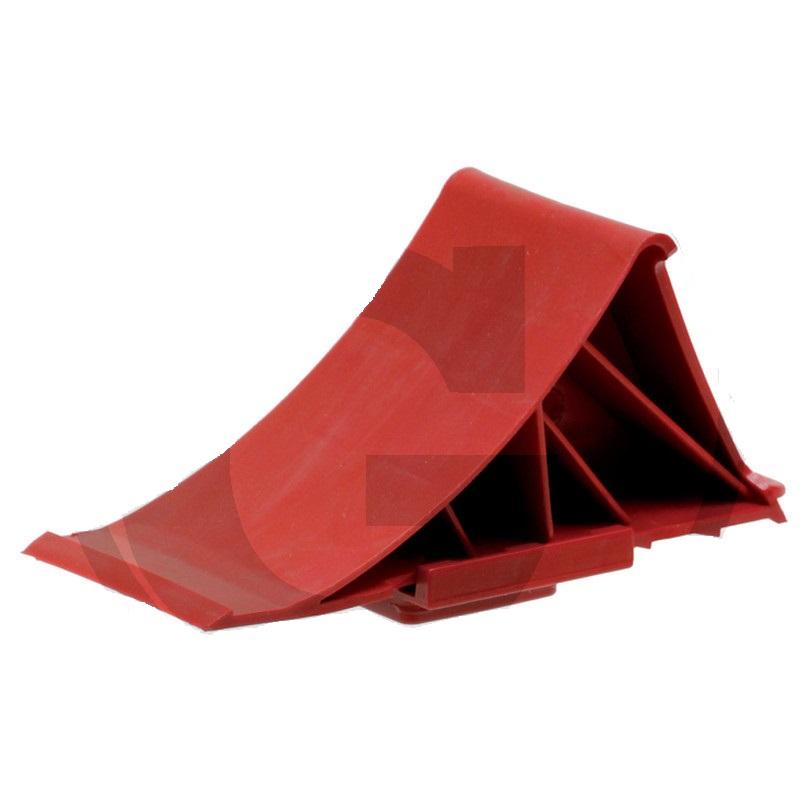 Zakládací klín pod kola plastový červený pro nápravy do 1600 kg s držákem