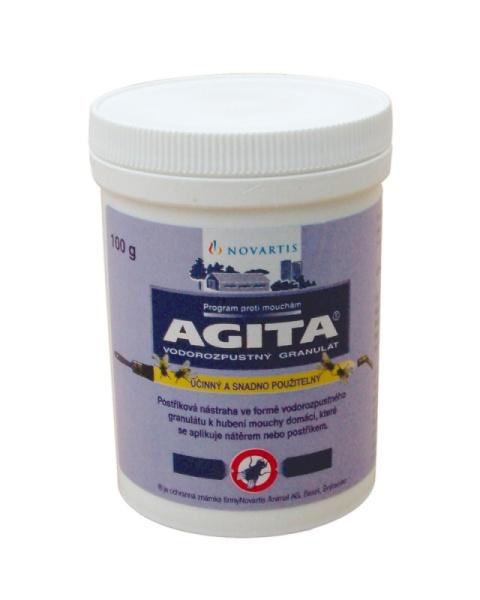 Insekticid AGITA 10 WG 100 g na hubení much v zemědělství a potravinářství