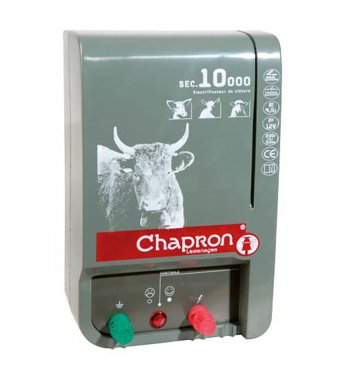 Síťový zdroj pro elektrický ohradník Chapron SEC 10 000 napětí 230V, 5 J