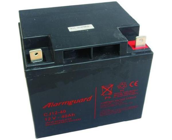 Gelová baterie pro elektrický ohradník 12V 40Ah ALARMGUARD bezúdržbová dobíjecí