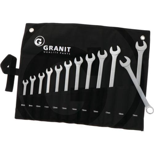 Sada očkoploché klíče 8-19 mm Granit BLACK EDITION 12-dílná srolovatelné