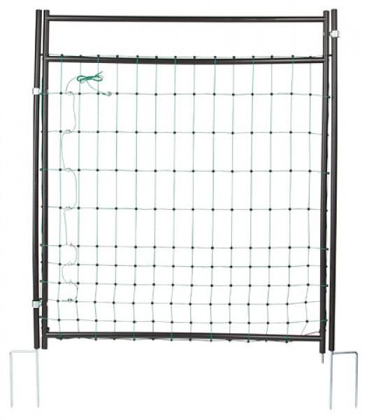 Vodivá brána k sítím pro ovce, kozy, drůbež výška 125 cm 2 hroty pro elektrické ohradníky