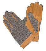 Jezdecké a pracovní rukavice kožené s textilní hřbetovou částí barva černá velikost L
