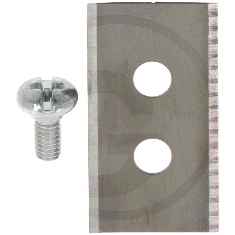 Sada 9 ks nožů 35 mm pro robotické sekačky Husqvarna, Electrolux, Partner 2 otvory, šrouby