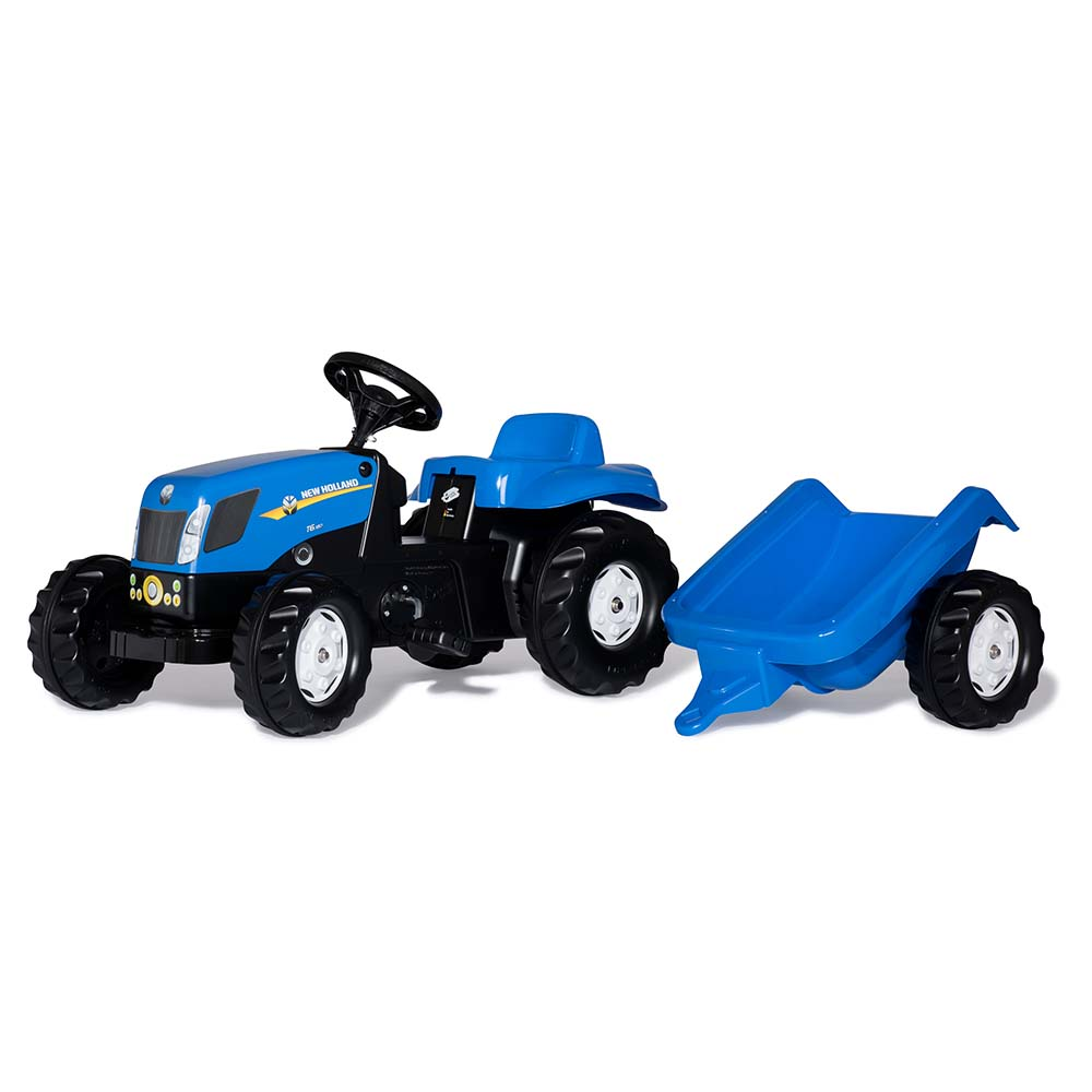 Rolly Toys - šlapací traktor New Holland TVT 190 s vozíkem modelová řada Rolly Kid