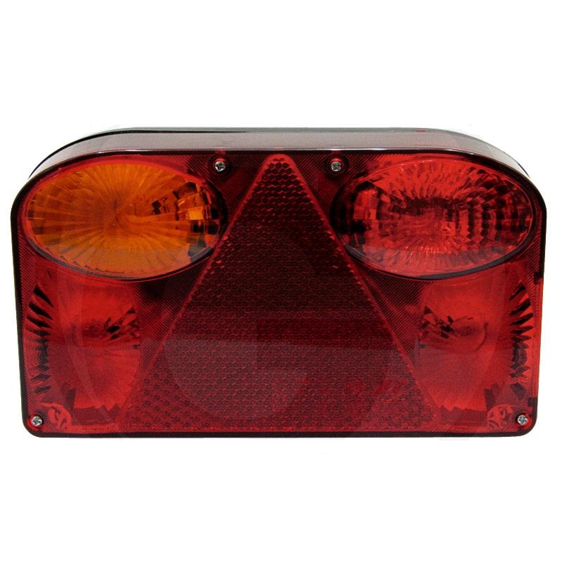 Zadní světlo 4-komorové levé 12V koncové, brzdové a směrové, osvětlení SPZ a mlhovka