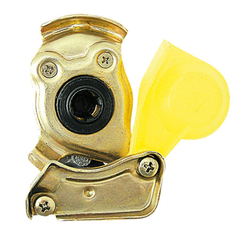 Hlava spojky Granit žlutá pro traktor  provedení M 22 x 1,5 brzda automatika nevyměnitelná