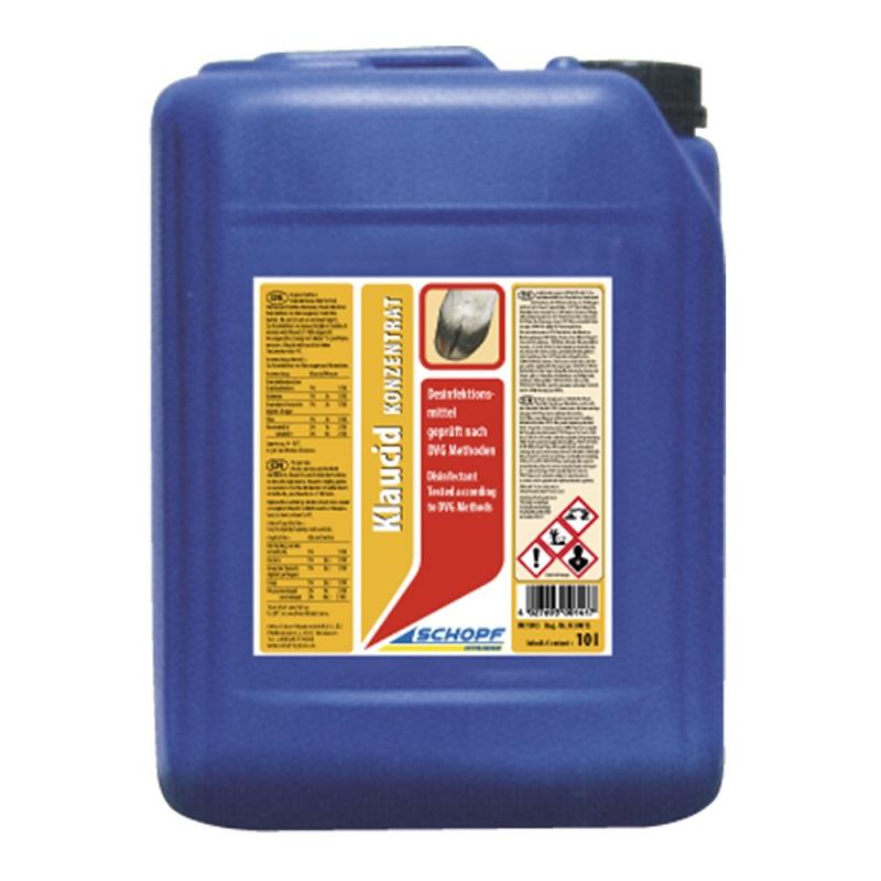 Dezinfekční prostředek pro rohože, lavážní vany Schopf KLAUCID koncentrát 10 l ve stáji