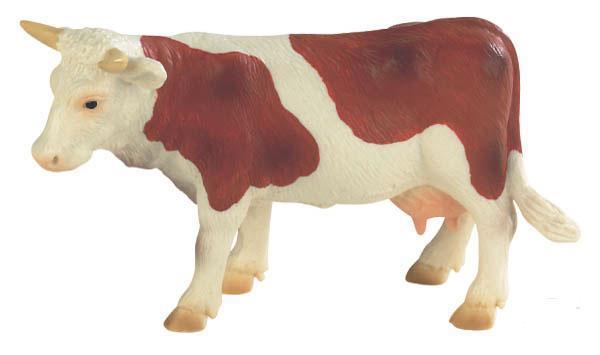 Bullyland - figurka hnědobílá kráva